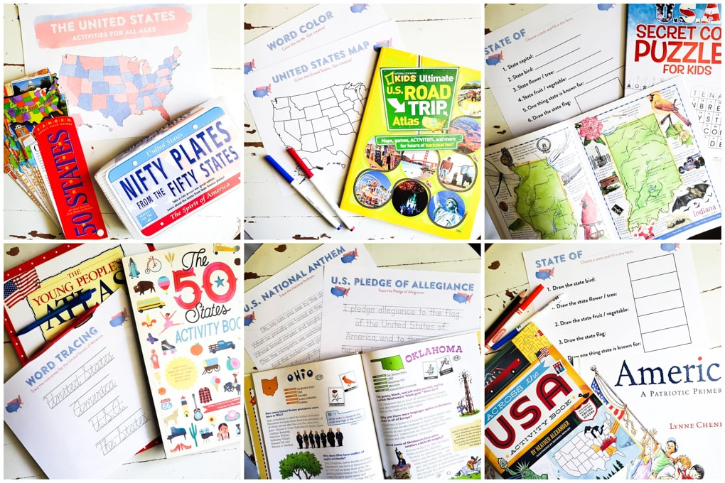 United States Themed Printable Packet