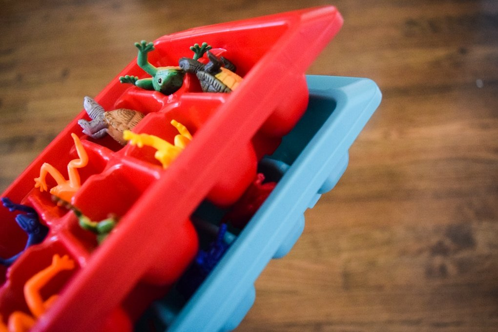 Sensory Play Activity: Animals Hidden in Ice - This Little Home of Mine