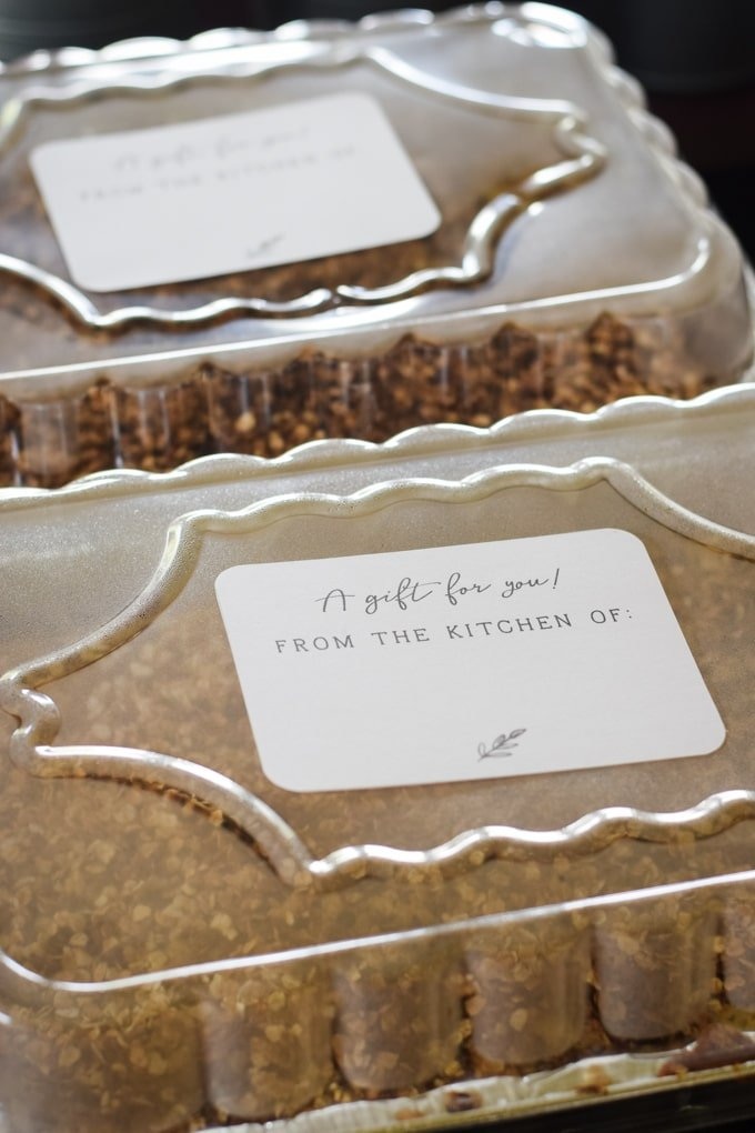 Printable Food Gift Tags - Featured on This Little Home of Mine