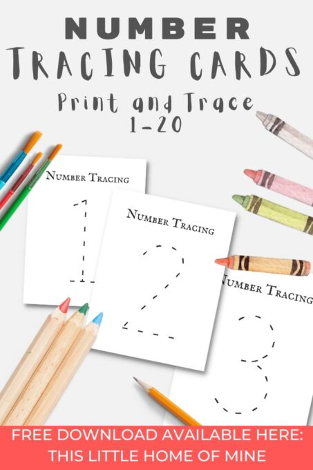 1-20 Number Tracing Cards