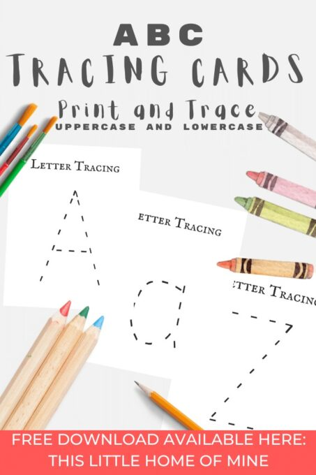 A-Z Alphabet Letter Tracing Cards