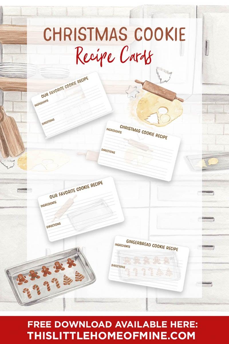 Christmas Cookie Recipe Cards