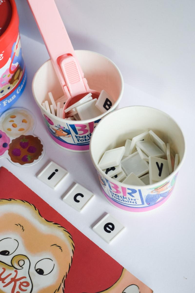 Ice Cream Scoop Spelling Activity